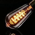 Ampoule Edison, Elfeland 3W Ampoule LED E27 Vintage Lampe Décorative Antique Spirale Filament 2200K 180LM Lumière Blanc Chaud Convient à l'éclairage Rétro et Nostalgique Modèle ST64-3 Packs de la marque ELFELAND image 2 produit