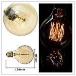 Ampoule Edison Vintage, Elfeland 40W E27 Ampoule Incandescence Antique Style Lampe décorative Filament de Tungstène 180LM 2200K Blanc Chaud Idéal pour Nostalgie et l'éclairage Rétro Modèle G80 de la marque Elfeland image 3 produit