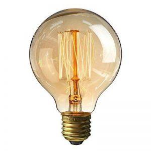 Ampoule Edison Vintage, Elfeland 60W E27 Ampoule Incandescence Antique Style Lampe décorative Filament de Tungstène 180LM 2200K Blanc Chaud Idéal pour Nostalgie et l'éclairage Rétro Modèle G80 de la marque Elfeland image 0 produit
