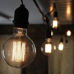 Ampoule Edison Vintage, Elfeland 60W E27 Ampoule Incandescence Antique Style Lampe décorative Filament de Tungstène 180LM 2200K Blanc Chaud Idéal pour Nostalgie et l'éclairage Rétro Modèle G80 de la marque Elfeland image 2 produit