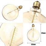 Ampoule Edison Vintage,Elfeland E27 40W Ampoule Globo Décorative Filament en Spirale Dimmable 2200K 180LM Lumière Blanc Chaud Idéal pour Nostalgie et Rétro Eclairage Modèle G125 de la marque Elfeland image 3 produit