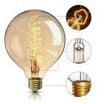 Ampoule Edison Vintage,Elfeland E27 40W Ampoule Globo Décorative Filament en Spirale Dimmable 2200K 180LM Lumière Blanc Chaud Idéal pour Nostalgie et Rétro Eclairage Modèle G125 de la marque Elfeland image 4 produit