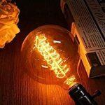 Ampoule Edison Vintage,Elfeland E27 40W Ampoule Globo Décorative Filament en Spirale Dimmable 2200K 180LM Lumière Blanc Chaud Idéal pour Nostalgie et Rétro Eclairage Modèle G125 de la marque Elfeland image 2 produit