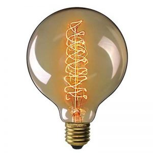 Ampoule Edison Vintage,Elfeland E27 40W Ampoule Globo Décorative Filament en Spirale Dimmable 2200K 180LM Lumière Blanc Chaud Idéal pour Nostalgie et Rétro Eclairage Modèle G125 de la marque Elfeland image 0 produit