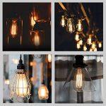 Ampoule Filament Edison, Massway 6 paquets E27 Rétro Antique Lampe décorative, 40W, 2700K Dimmable Blanc Chaud ampoule incandescente de la marque Massway image 2 produit