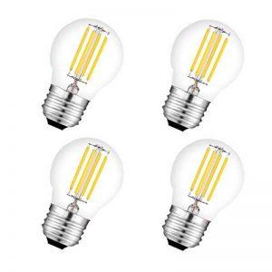 Ampoule à filament G45 LED E27 4W 450LM équivalent 40W vintage Verre Mini Globe Ampoule Dimmable lumière du jour 2700K 4 Pack de la marque AOJA image 0 produit
