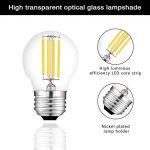 Ampoule à filament G45 LED E27 4W 450LM équivalent 40W vintage Verre Mini Globe Ampoule Dimmable lumière du jour 2700K 4 Pack de la marque AOJA image 1 produit