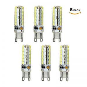 Ampoule G9 LED 5W, ZMH 6er Ampoule 3014 SMD 96 LEDs Lampe, équivalent à Ampoule Halogène/Incandescente 45W, 450LM Blanc Chaud 3000K spot, AC 220V-240V 360° Large Faisceau LED Bulb de la marque ZMH image 0 produit