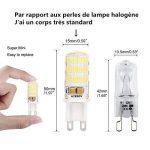Ampoule G9 LED Éclairage Économiseur D'énergie Lampes (L)50mm*(W)15mm Blanc Froid 5W 400LM Super Lumineux (5 Pack) S'appliquent au Salon, Éclairage de Pièce de la marque ELINKUME image 4 produit