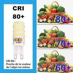 Ampoule G9 LED Éclairage Économiseur D'énergie Lampes (L)50mm*(W)15mm Blanc Froid 5W 400LM Super Lumineux (5 Pack) S'appliquent au Salon, Éclairage de Pièce de la marque ELINKUME image 3 produit