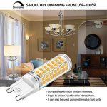 Ampoule G9 LED Dimmable Four, Blanc Chaud, 6W Équivalent 40W 50W 60W Ampoule Halogène Lampe, 3000K, 540LM, AC 220-240V, IRC 82, Culot g9, Lot de 6 de la marque Eco.Luma image 1 produit