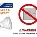 Ampoule GU10 LED blanc chaud, 5W équivalent à 35 watts halogène, non dimmable, 350 lumens, 3000K, 120 ° angle de faisceau-paquet de 10 | LED fourni par Samsung | Ne pas utiliser avec des interrupteurs dimmer [classe d'énergie A + +] [Classe énergétique A+ image 2 produit