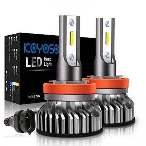 Ampoule H11 LED, 10000LM Phares pour Voiture et Moto, Ampoules Auto de Rechange pour Lampes Halogènes et Kit Xenon, 12V-24V, 6000K, 2 Ampoules de la marque koyoso image 0 produit