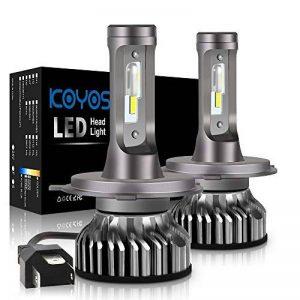 Ampoule H4 LED, 10000LM Phares pour Voiture et Moto, Ampoules Auto de Rechange pour Lampes Halogènes et Kit Xenon, 12V-24V, 6000K, 2 Ampoules de la marque koyoso image 0 produit