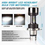 Ampoule H4 LED, Phare pour Moto, Feux Avants 6400LM, 12V-24V, Xénon Blanc 6000K, Pack de 1 de la marque Car Rover image 3 produit