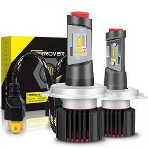 Ampoule H4 LED, Phares pour Voiture et Moto, Feux Avants Auto 9600LM, 12V-24V, 6500K, 2 Ampoules de la marque Car Rover image 0 produit