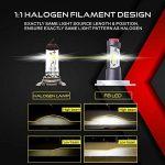 Ampoule H4 LED, Phares pour Voiture et Moto, Feux Avants Auto 9600LM, 12V-24V, 6500K, 2 Ampoules de la marque Car Rover image 2 produit