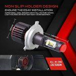 Ampoule H4 LED, Phares pour Voiture et Moto, Feux Avants Auto 9600LM, 12V-24V, 6500K, 2 Ampoules de la marque Car Rover image 4 produit