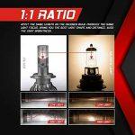 Ampoule H7 LED, 10000LM Phares pour Voiture et Moto, Ampoules Auto de Rechange pour Lampes Halogènes et Kit Xenon, 12V-24V, 6000K, 2 Ampoules de la marque koyoso image 4 produit