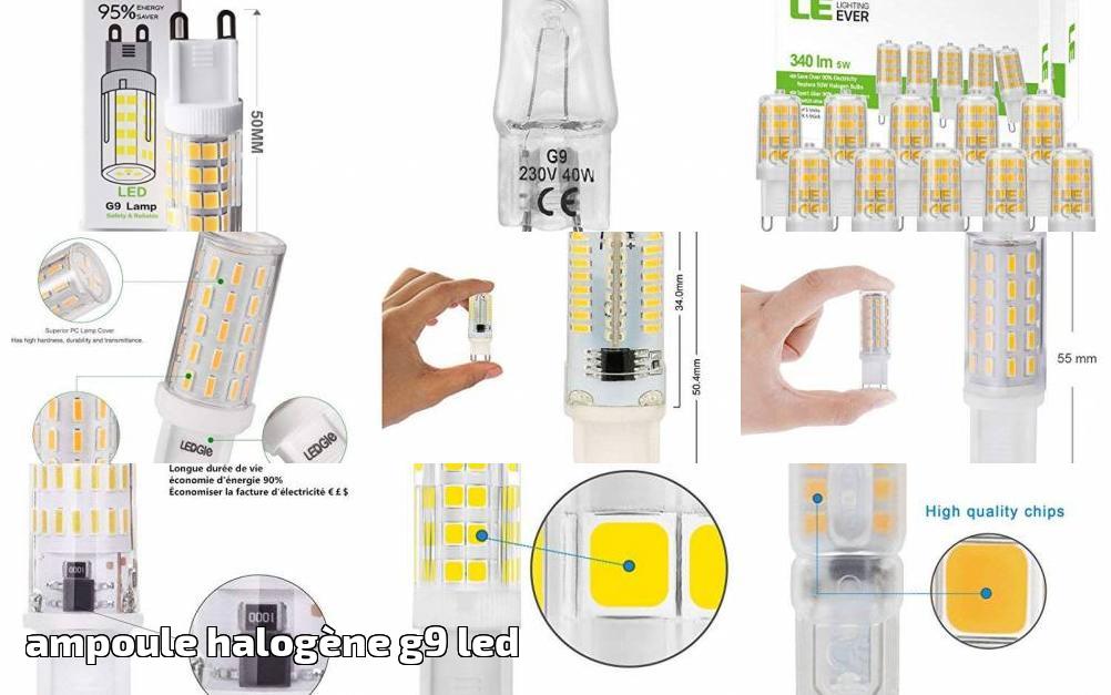 10 Pack longue durée de vie lampe G9 halogène 40W Co ampoules longue durée de vie lampe GU10 NEUF