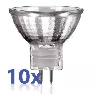 Ampoule halogène gU4 mR11 blanc chaud 12 v 10W (10 pièces) de la marque Lissek image 0 produit