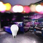 Ampoule Intelligente de Komfami, Ampoule de Wifi, Travail Avec Amazon Alexa, écho, Google Home, Ampoule de LED de 7W Multicolore RGBW, APP Commandée n'importe où, Dimmable, E27 de la marque Komfami image 1 produit