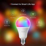 Ampoule Intelligente WiFi E27 Couleur Dimmable, TECKIN 800 lm LED smart Bulb , Contrôle à Distance via APP Smart Life (IOS et Android) , Compatible avec Amazon Alexa ,Google Home et IFTTT pas besoin de Hub,A19 Ampoule RVB équivalente à 60 W (7,5 W), (2pac image 1 produit