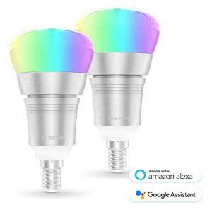 Ampoule Intelligente WiFi, Maxcio Ampoule Connectée Contrôle à Distance via APP Gratuit (IOS et Android), Minuterie et Couleur Dimmable, 9W-E14 Ampoule Alexa, pas besoin de Hub (2 Packs) de la marque Maxcio image 0 produit