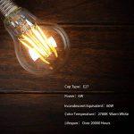 Ampoule LED 6W E27, Lot de 2, 6W Consommés Equivalence 60W, 2700K Blanc Chaud, 600 Lumens et Angle de Faisceau 360° par Aglaia de la marque Aglaia image 4 produit