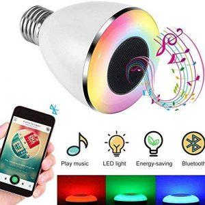 Ampoule LED Bluetooth avec Enceinte Musique, Ampoule Couleur sans fil Smart, Intelligente RGBW LED E27 Doux Chaud Multicolore Enceinte Stéréo Bluetooth Télécommande par IOS, Android pour Maison de la marque KIPOOH image 0 produit