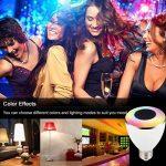 Ampoule LED Bluetooth avec Enceinte Musique, Ampoule Couleur sans fil Smart, Intelligente RGBW LED E27 Doux Chaud Multicolore Enceinte Stéréo Bluetooth Télécommande par IOS, Android pour Maison de la marque KIPOOH image 2 produit