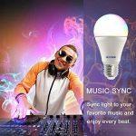 Ampoule led couleur ampoule couleur ampoule connectee A60 9W (60W Équivalent) 2700K Multi-Couleur Changeable (16 Millions) Synchronisation Vocal Musique et Timing Fonction pour le Réveil ou la Rentrée App Contrôlée et Compatible avec IOS/Android Système(6 image 4 produit