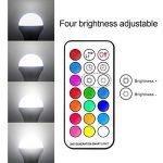 Ampoule LED Couleur E27 10W Changement de Couleur Dimmable LED Bulbs 12 choix de couleurs,21 key Télécommande Compris (Lot de 2) de la marque DaSinKo image 4 produit