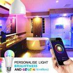 Ampoule LED Couleur,Wifi Ampoule Connectée E27 Compatible avec Amazon Alexa Echo Contrôle par Smartphone (iOS/Android),avec Changement de Couleur,Choix de scène,APP Contrôle à Distance de la marque FEYG image 2 produit