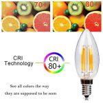 Ampoule LED E14 6w Flamme Bougie LED Candle Light Blanc Chaud 2700k,480lm,Equivalent à Ampoule Halogène 60W,360° Faisceau,220-240V de la marque DaSinKo image 2 produit