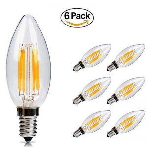 Ampoule LED E14 6w Flamme Bougie LED Candle Light Blanc Chaud 2700k,480lm,Equivalent à Ampoule Halogène 60W,360° Faisceau,220-240V de la marque DaSinKo image 0 produit