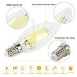 Ampoule LED E14 C35 Blanc Chaud Dimmable 5W Ampoule de Filament LED, 2700K, Équivalent à Ampoule Incandescente de 50W, 470LM, AC 220-240V, Angle du faisceau 360°, pour Chandeliers, Lustres, Chambre, Lot de 6 de la marque HYDONG image 1 produit