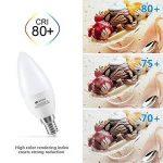 Ampoule LED E14 C37 6W, Seealle Ampoule e14 Bougie Équivalent à Ampoule Incandescente 60W, 600lm Ampoule LED Culot E14 , Blanc Chaud 2700k, Lot de 6 de la marque Seealle image 4 produit