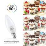 Ampoule LED E14 C37 6W, Seealle Ampoule e14 Équivalent à Ampoule Incandescente 60W, 600lm, Ampoule led Forme Bougie, Blanc Froid 5000K, Angle de faisceau 180°,Lot de 6 de la marque Seealle image 4 produit