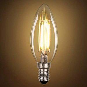Ampoule LED E14 à Filament, Lot de 5 Ampoules Flamme, 3.5 Watts Consommés Equivalence Incandescence 40W, 2700K Blanc Chaud et 430LM, Angle de Faisceau 360° par Aglaia de la marque Aglaia image 0 produit