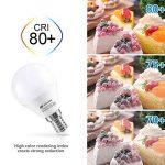 Ampoule LED E14,Seealle 5W Équivalent Ampoule Incandescente de 50W, E14 Ampoule Type Globe, Blanc Froid 5000K , Non-Dimmable, Lot de 6 de la marque Seealle image 4 produit