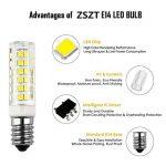 Ampoule led E14, ZSZT 7W 500LM (Equivalent 50W Ampoules halogènes/Incandescente) Blanc Froid 6000K, 360° angle de faisceau, 220-240V, Lot de 2 de la marque ZSZT image 4 produit