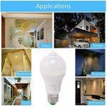 Ampoule LED E27 10W PIR avec Détecteur de Mouvement Éclairage Décoratif à Capteur Infrarouge Blanc Chaud 3000K du Jour pour Couloir, Garage, Escalier de la marque HGHC image 3 produit