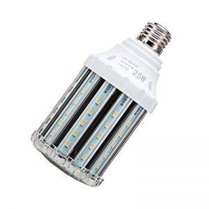 Ampoule led E27 25W, lampe de maïs led puissant idéal pour grande pièce comme garage, atelier, cuisine, salon, séjour, terrasse, applique murale 3000k (blanc chaud 25W) de la marque LEF image 0 produit