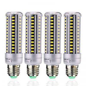 Ampoule LED E27 Blanc Froid 15W Équivalent incandescence 120W Ampoule 6000K 1380 Lumen Lampe LED Bulb 360° Larges Faisceaux Éclairage instantané Led maïs ampoule E27 Led (Lot de 4) by HUIERLAI de la marque HUIERLAI image 0 produit
