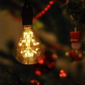 Ampoule LED E27 Edison Ampoule Vintage Diamant 1.3W Basse Consomation Éclairage Décoration Lumières Rétro pour Décoration de Chambre Fêtes Café Boutique Intérieur Blanc Chaud de la marque O'BLACK image 0 produit