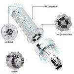 Ampoule LED E27 Lampe Led 25W équivalent 250W avec E40 Adaptateur 2500 Lumen Blanc Froid 6500K Super Brillant Ampoule Blanc Froid Eclairage Led maïs Cob 360° Larges Faisceaux de la marque AWE-LIGHT image 4 produit