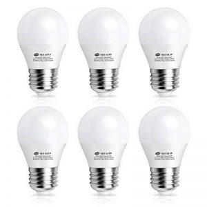 Ampoule LED E27, Seealle Ampoule Globe Culot E27, 6W Equivalent 60W Incandescente, Blanc Chaud 2700K , 600LM, AC85-265V, Non-Dimmable, Lot de 6 de la marque Seealle image 0 produit
