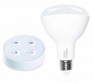 Ampoule LED E27 Wireless 12W + Télécommande RF avec support magnétique/collant - Luminosité et Température (CCT) réglable - CRI 90>Ra de la marque Lighting Arena image 0 produit