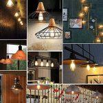 Ampoule LED Edison, Massway 6 paquets E27 Rétro Antique Lampe décorative, 4W, 2700K Blanc Chaud (LED) de la marque Massway image 4 produit